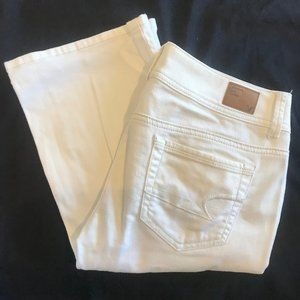 White Bootcut American Eagle Jeans